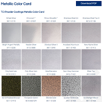 Metallic Powder Coatings Color Card